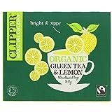 Clipper Fairtrade Green with Lemon Tea Bags 80 per pack (Case Of 4, Total 320 Tea Bags)