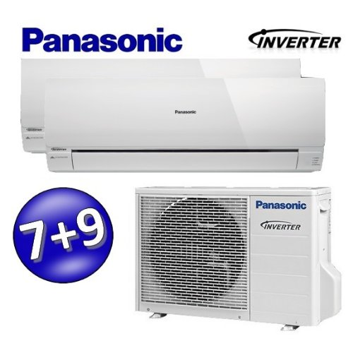 DUO Multi Split Inverter PANASONIC MRE aire acondicionado climatizador 7000 + 9000...