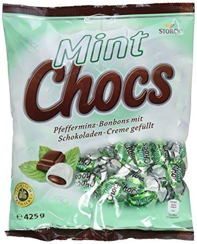 Preisvergleich Produktbild Mint Chocs - Erfrischende Pfefferminz-Bonbons,  im Kerngefüllt mit leckerer Schokoladencreme - (15 x 425g Beutel)