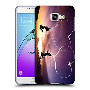 Snoogg Kids Jumping Designer Protective Back Case Cover For SAMSUNG GALAXY A7 2016