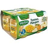 Blédina pots pomme mangue 4x130g dès 6 mois - ( Prix Unitaire ) - Envoi Rapide Et Soignée