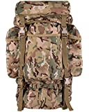 British Military Army US Molle Backpack Tactical Assault Combat Rucksack Bergen Pack 60L All Terrain Camo Bag