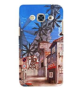 Animated Multiple Wind Mills PIC 3D Hard Polycarbonate Designer Back Case Cover for Samsung Galaxy J3 (2016) :: Samsung Galaxy J3 (2016) Duos with Dual-SIM Card Slots