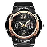 OOFAY Orologio elettronico multifunzionale impermeabile di alta qualità degli orologi elettronici d'arrampicata della montagna delle studentesse , Black