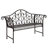 CB Imports Vintage Look Garden Bench - Tan Brown