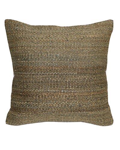 WOVEN - Designer Kissenhülle Handgemacht Marrakech - Schöne Webtextur in Beige & Braun - Jute & Baumwolle - 45 X 45 Centimeter - Für schöne Akzente in Schlafzimmer und Wohnzimmer oder als Geschenk