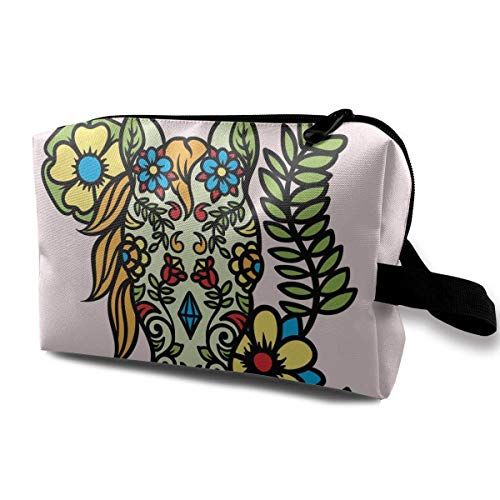 8a498499f831 Cartoon Day of The Dead Horse Small Travel Toiletry Bag Super Light  Toiletry Organizer for Overnight Trip Bag