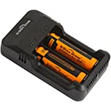 Sidiou Group universal USB multifuncional doble ranura del cargador inteligente inteligente cargador de batería para 18650 26650 Li-ion / Ni-MH (batería no incluida)