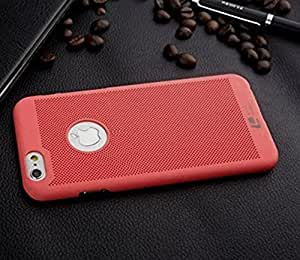 KC Breathable Frosted Hard Shell Bright NETDI Design Case Back Cover for iPhone SE - RED