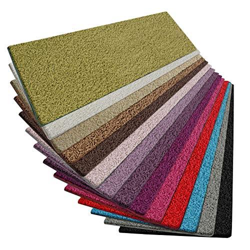 casa pura Shaggy Teppich Läufer Barcelona   weicher Hochflor Teppichläufer für Flur, Wohnzimmer, Schlafzimmer etc.   GUT-Siegel und Blauer Engel   viele Größen   Moderne Farben   80x150 cm   Grün -
