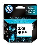 HP 338 DeskJet 5740/6540/Photosmart 8450/8510 Inkjet/getto d'inchiostro Cartuccia originale, colore : Nero