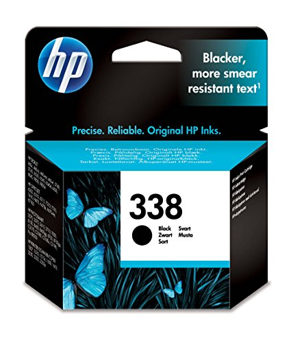 Hp 338 deskjet 5740/6540 / photosmart 8450/8510 inkjet / getto d'inchiostro cartuccia originale, colore : nero