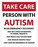 LARGE TAKE CARE- Person with AUTISM, Emergency/Safety car...
