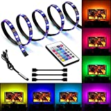 FTALGS LED Stripes, 2m selbstklebend Lichterkette, Band, Streifen, LED Leiste, LED Lichtleiste, LED Bänder, Lichterkette LED, LED Lichtschlauch, weiß, bunt, inkl. Farbwechsel,Fernbedienung, flexibel erweiterbar, dimmbar