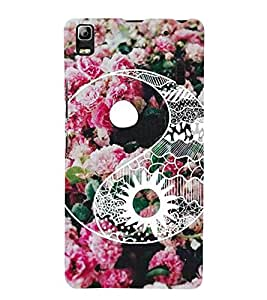 For Lenovo A7000 :: Lenovo A7000 Plus :: Lenovo K3 Note pink rose, flower, flower, floral pattern, pattern Designer Printed High Quality Smooth Matte Protective Mobile Case Back Pouch Cover by APEX