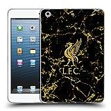 Head Case Designs Offizielle Liverpool Football Club Schwarz & Gold Marmor 2018/19 Wappen & Liverbird Muster Soft Gel Hülle für iPad Mini 1/Mini 2/Mini 3