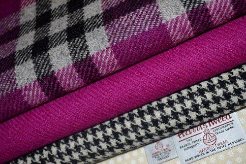 Harris Tweed Stoff 100% reine Schurwolle gemischt Bundle 3x 36,5/25cm auch...
