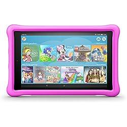 Das neue Fire HD 10 Kids Edition-Tablet, 25,65 cm (10,1 Zoll) 1080p Full HD-Display, 32 GB, pinke kindgerechte Hülle Fire HD