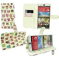 Emartbuy® HTC Desire Eye Brieftaschen Wallet Etui Hülle Case Cover aus PU Leder Owls mit KRotitkartenfächern