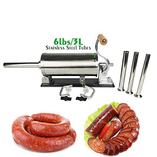 GJCKMKM 6Lbs/ 3L Horizontal Acero Inoxidable Sausage