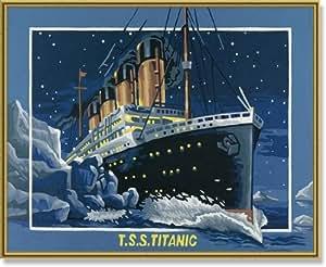 Peinture aux numéros - Titanic - Cadre 40/50