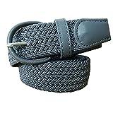 BOZEVON Elastica Cintura uomo cinghia intrecciata pelle flessibile quotidiano Cintura