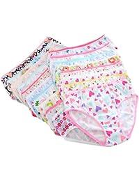 BOBORA Enfants Pack De 6 Bebe Fille Culotte en Coton Couleur Aleatoire 0-12Ans