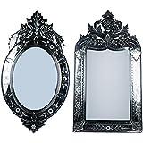 MADHUSUDAN GLASS WORKS Mirror & Plywood Wall Mirror (Pack Of 2, Silver) - B07BJ4SNBT