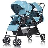 Poussette bébé Twins / Double & Tandem Asseyez-vous ou mentez-vous Plié Systèmes de voyage Chariot