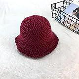 Lnyy Hut-Frühling und Winter Fashion Damen Stricken Hut Mütze lässig Topf Fischerhut