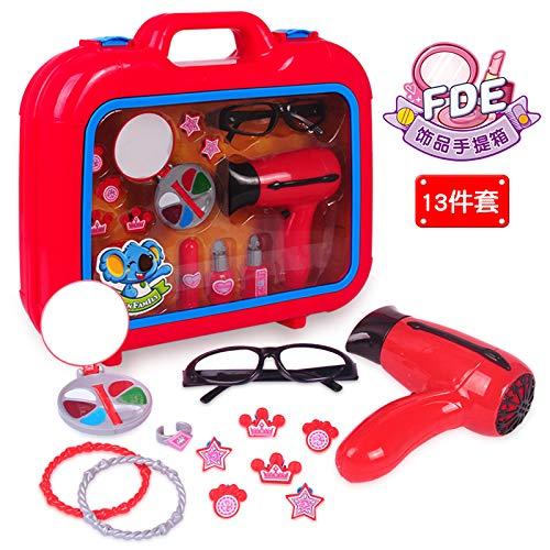 ruoyu Über Haus Simulation Schmuck Spielzeug Tragbare Aufbewahrung Box Spielzeug Mädchen Geburtstagsgeschenk FDE660 Zubehörkoffer (Schmuck-box Für Kinder Im Alter Von 8)