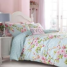 Catherine Lansfield Canterbury - Juego de sábanas + bajera para cama de 150 cm