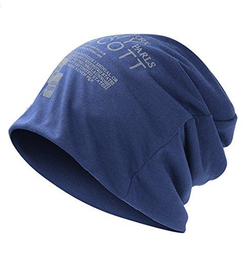 Cappello Beanie Cuffia Lunga Unisex Berretto Cap (Blu marino)