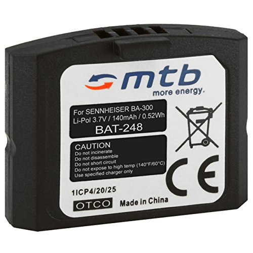 Batteria BA-300 per cuffie wireless Sennheiser RI 410 (IS 410), RI 830 (Set 830 TV), RI 830-S, RI 840 (Set 840 TV), RI 900, RR 4200... - v. lista