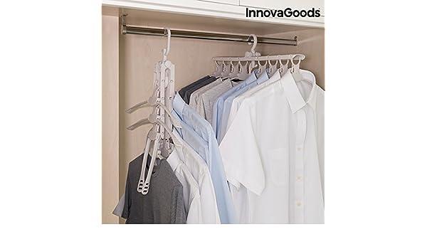 360°Drehbar 18 in 1 Kleiderschrank Haken Handtuch Schals Mantel Kleiderbügel