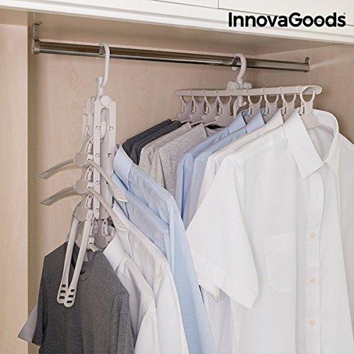 InnovaGoods Percha Múltiple 8 En 1, Metalizado, Talla Unica