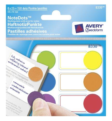 Avery 8330 - Recambio de notas adhesivas (2 rollos, 8 m, 60 mm de grosor), color rosa