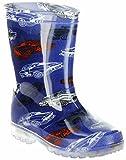 ConWay Gummistiefel blau Regenstiefel Kinderschuhe Lichtfunktion Stiefel Schuhe Car, Farbe:blau, Größe:27