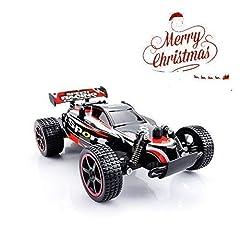 Idea Regalo - Haotong Macchina Radiocomandata 2.4Ghz, Fuoristrada 1:20 Buggy Racing Alata Velocita Rosso