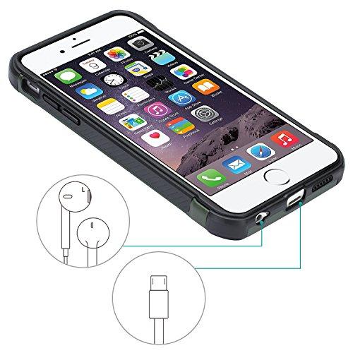 Cover iPhone 6, Cover iPhone 6S, Epxee [Shock-Absorption] Silicone Protezione Custodia per Apple iPhone 6 / 6S (Mimetico-001) iPhone 6 CAMO