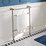 iBathUK | 6 Column Traditional White Electric Heated Towel Rail Bathroom Radiator