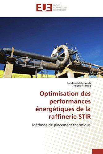 Optimisation des performances énergétiques de la raffinerie stir