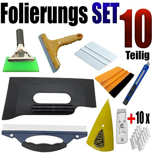 10 pezzi professionale folierung Set - Raschietto Set - Auto