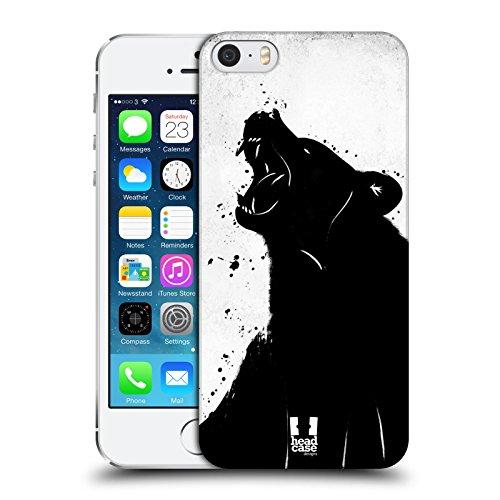 Head Case Designs Orso Polare Gocce Di Inchiostro Animali Cover Retro Rigida per Apple iPhone 5 / 5s