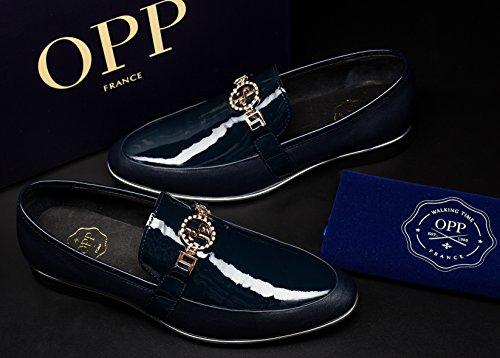 OPP , Chaussures de ville à lacets pour homme Bleu