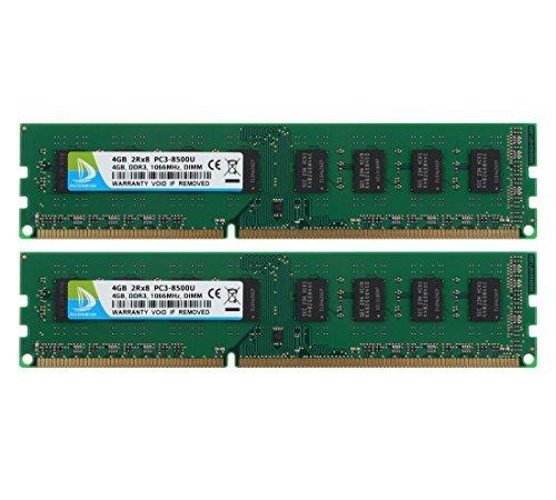 DUOMEIQI 8GB Kit (2X4GB) DDR3 1066MHz 2RX8 PC3-8500 240pin CL7 DIMM Speicher 1.5v Desktop-RAM-Modul -