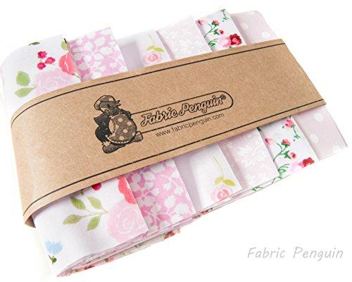 Patchwork Stoff Quadrate X 50Pink Floral Bundle 10x 10cm Quilting Reste Roses