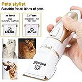 Oneisall Profi Schermaschine mit Zubehör Wiederaufladbare Tierhaarschneider Haustiere Elektrische Haarschneidemaschine für Hunde, Katze - 4
