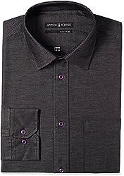 Arrow Newyork Men's Formal Shirt (8907163028662_ASOY5218_44_Black)