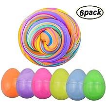 SWZY Fluffy Egg Slime 12 OZ Soft Slime Kit No pegajoso sin Borax Olor Scented Stress